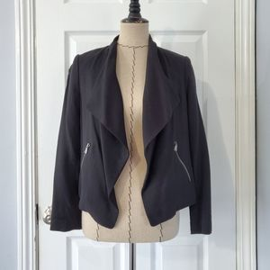 Club Monaco Monique Drape Blazer in Black